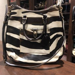Dooney & Burke zebra print purse